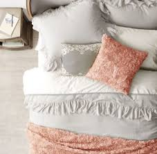 tattered ruffle duvet cover