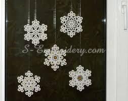 snowflake free standing lace ornaments set sku10649