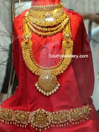 gold bridal set antique gold bridal set jewellery designs
