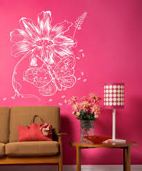 vinyl wall decal sticker butterfly and flower 1068