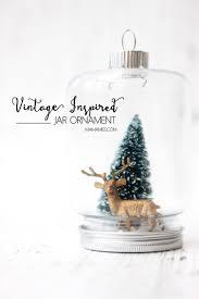 vintage inspired jar ornament