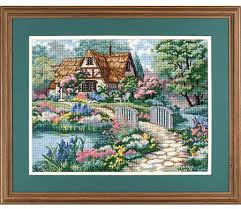 dimensions cottage retreat needlepoint kit 2461 123stitch
