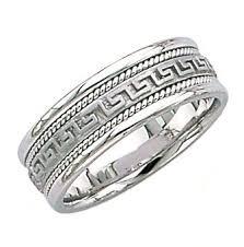 carved wedding bands carved aztec design wedding band for him and