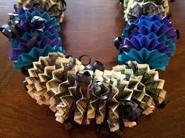 Money Leis Money Lei How To Make A Recycled Necklace Papercraft On Cut