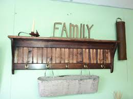 interior rustic wood wall mounted coat rack with shelf clever
