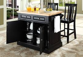 kitchen island with stools buy butcher block top kitchen island with black x back stools