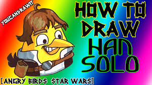how to draw han solo bird from angry birds star wars