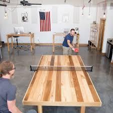 Ping Pong Table Cheap Diy Ping Pong Table Ping Pong Table Game Rooms And Basements