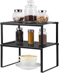 davidson kitchen cabinet door organizer nex kitchen cabinet and counter shelf organizer expandable stackable black