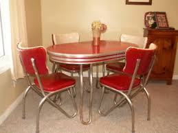 Retro Kitchen Table And Chair Setdinette  Dining  Vintage - Chrome kitchen table