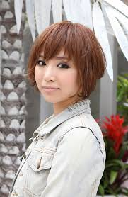 2015 women spring haircuts trendy short copper haircut from japan stacked short angled bob