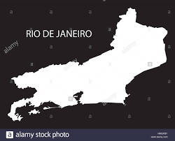 Rio On World Map Rio De Janeiro Brazil Map Black Inverted Silhouette Stock Vector
