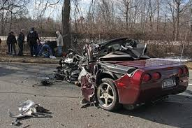 corvette car crash island ny crash vettetube gallery