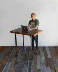Rustic Wood Desk Solid Wood Table Standing Desk Urban Wood Goods