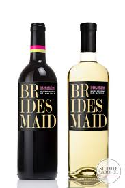 Wine Wedding Gift Be My Bridesmaid Wine Label Pink U0026 Gold U2014 Studio B Labels