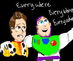 Toy Story Everywhere Meme - buzz lightyear blank blank everwhere meme