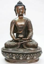 handmade oxidized amitabha buddha statue from nepal oxidiez