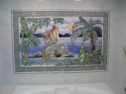 ceramic murals handmade tiles mermaid handmade tile mosaic