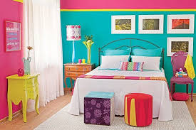 Color Blocking In The Bedroom Ideas  Inspiration - Bright colored bedrooms