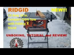 ridgid 13 10 in professional table saw ridgid 10 in compact table saw with folding x stand review r45171
