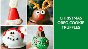christmas oreo cookie truffles youtube