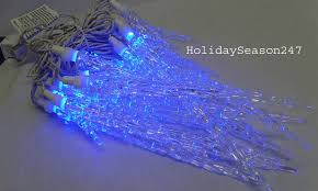 blue icicle lights outdoor lighting and ceiling fans