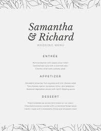 wedding menu templates wedding menu templates canva
