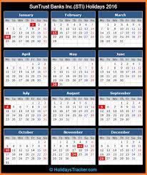 suntrust bank us holidays 2016 holidays tracker