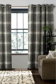 next astley bouclé check eyelet curtains yellow bluewater 150 00