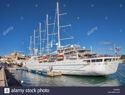 the wind surf one of the largest sailing cruise ships in the