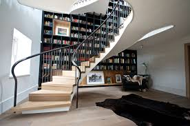Curved Stairs Design Wooden Stairs Design Staircase Contemporary With Framed Artwork