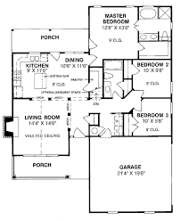 1263 sf 3 br house plan chp 6640 at coolhouseplans com house