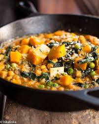 Thai Red Pumpkin Curry Recipe by Chickpea And Butternut Squash Curry Vikalinka
