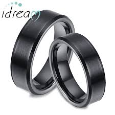 his and wedding rings black tungsten wedding bands set for women and men tungsten