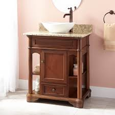 beautiful walnut vanity signature hardware