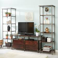 Narrow Bookcase by Sandpiper Handmade Industrial Narrow Tall Bookcase Walnut Stained