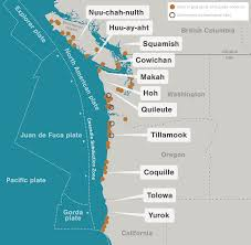 physical map of oregon juan de fuca plate the great quake and the great drowning hakai magazine