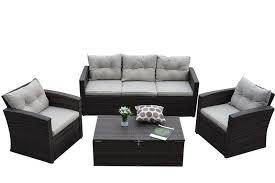 Las Vegas Outdoor Furniture by Thy Hom Rio 4 Piece Outdoor Furniture Conversation Set Las Vegas
