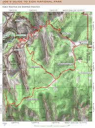 Mountain Map Joe U0027s Guide To Zion National Park Cable Mountain Map