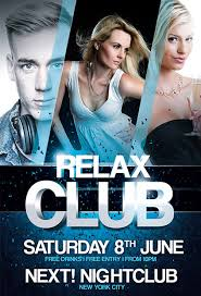 free relax club psd flyer template download free psd http www