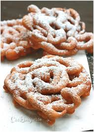 funnel cakes the cooking bride