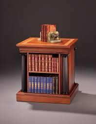 Round Revolving Bookcase End Table With Revolving Bookcase Finewoodworking