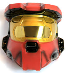 halo red spartan halloween mask xbox one 360 master chief video