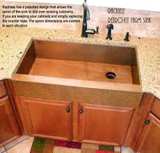 Kitchen Sink Designs Farmhouse Sink Installation In Existing Cabinet
