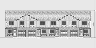 4 plex plans tudor house plans townhome plans quadplex f 490