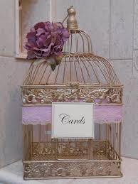 birdcages for wedding gold birdcage wedding card holder card box lavender wedding