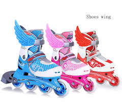 1 pair new roller skate shoes wings ornament decoration skating