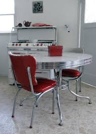 1950s kitchen furniture the tables had that metal around the edge and who could