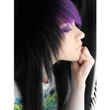 black hairstyles purple purple hair polyvore