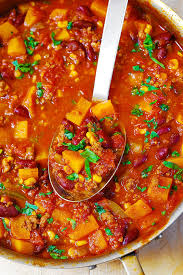 cuisine butternut butternut squash chili with beef and beans s album